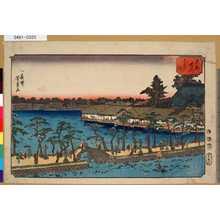 Utagawa Yoshikazu: 「東都名所」 「不忍池」 - Tokyo Metro Library