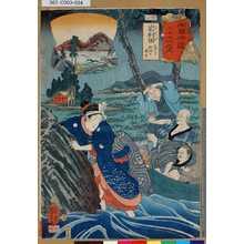 Utagawa Kuniyoshi: 「木曾街道六十九次之内」「廿三」「岩村田 大井子田畑を潤す」 - Tokyo Metro Library