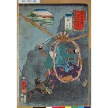 Utagawa Kuniyoshi: 「木曾街道六十九次之内」「四十八」「武佐 宮本無三四」 - Tokyo Metro Library