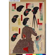 Toyohara Chikanobu: 「鬘附束髪圖會」 「渡辺巻」「英吉利結」「三ツ割」「和嵜結」「同變形」 - Tokyo Metro Library