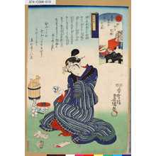 Utagawa Kunisada: 「意勢固世身見立十二直」 「破」「神無月夷講」「暦中段つくし」 - Tokyo Metro Library