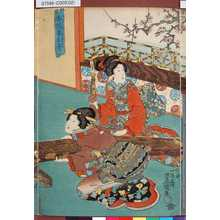 歌川国貞: 「香誘春爪音」 - 東京都立図書館