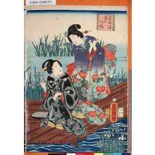 歌川房種: 「其由縁花の八つ橋」 - 東京都立図書館