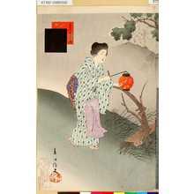 春汀: 「美人十二ヶ月」 「其八」「名月」 - 東京都立図書館