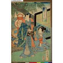 Utagawa Fusatane: 「源氏月の姿見」 「名所玉川」 - Tokyo Metro Library
