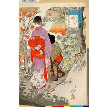 春汀: 「美人十二ヶ月」 「其十」「紅葉」 - 東京都立図書館