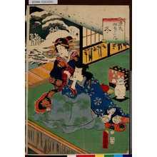 歌川房種: 「源氏四季の内」 「冬」 - 東京都立図書館