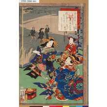 Ochiai Yoshiiku: 「全盛自筆三十六花撰」 「宝槌楼和歌式」「おなしく顔居」 - Tokyo Metro Library