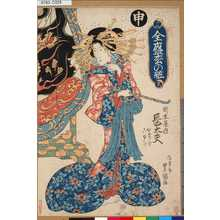 Utagawa Toyoshige: 「十二支全盛松の粧」 「申岡本屋内長太夫かけをこゆひ」 - Tokyo Metro Library