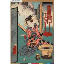 Utagawa Kunisada II: 「当盛美人揃之内」 「[しんさがみや、とこ]」 - Tokyo Metro Library