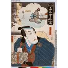 Utagawa Kunisada: 「東都高名会席尽」「浅倉当吾」 - Tokyo Metro Library
