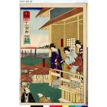 Toyohara Kunichika: 「開化三十六會席」 「新富町」「躍金楼」 - Tokyo Metro Library