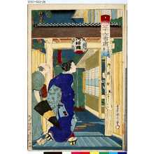 Toyohara Kunichika: 「開化三十六會席」 「下谷広小路」「鳥八十」 - Tokyo Metro Library