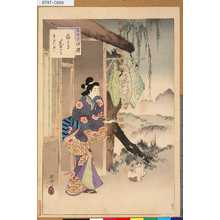 Mizuno Toshikata: 「三十六佳撰」 「網笠茶屋」「寛永頃婦人」 - Tokyo Metro Library