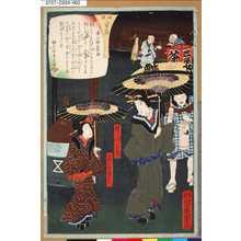 落合芳幾: 「両国八景之内」 「広小路の夜雨」 - 東京都立図書館