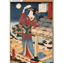 Utagawa Kunisada II: 「今様美人揃」 「首尾の松おきん」 - Tokyo Metro Library