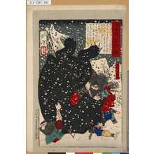 Tsukioka Yoshitoshi: 「大日本名将鑑」 「阿部比羅夫」 - Tokyo Metro Library