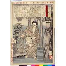 Tsukioka Yoshitoshi: 「近世人物誌」「やまと新聞附録」 「第五」「江藤新平氏」 - Tokyo Metro Library