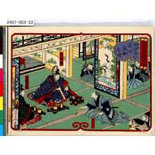 Yoshifuji: 「徳川十五代記略」 「中山公営中議論之図」 - Tokyo Metro Library