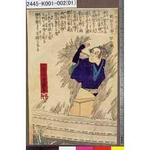 Utagawa Yoshitsuya: 「近世明義伝」 「岡部三十郎 四十五歳」 - Tokyo Metro Library