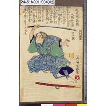 Utagawa Yoshitsuya: 「近世明義伝」 「大関和七郎 廿五歳」 - Tokyo Metro Library