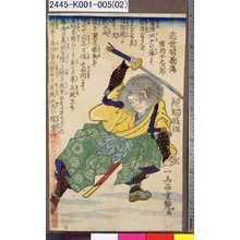 歌川芳艶: 「近世明義伝」 「広岡子之次郎」 - 東京都立図書館