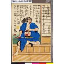 歌川芳艶: 「近世明義伝」 「高橋多一郎」 - 東京都立図書館