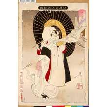 Tsukioka Yoshitoshi: 「新形三十六怪撰」 「さぎむすめ」 - Tokyo Metro Library