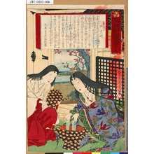Toyohara Kunichika: 「葵艸松の裏苑」 「第六帙」「家宣公御台所」 - Tokyo Metro Library