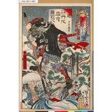 Kawanabe Kyosai: 「元禄日本錦」 「わ」「堀部安兵衛武庸」 - Tokyo Metro Library