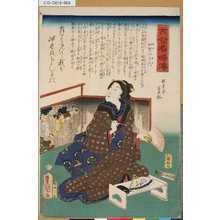Utagawa Kunisada: 「古今名婦伝」 「加賀の千代」 - Tokyo Metro Library