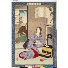 Mizuno Toshikata: 「教導立志基」 「廿九」「山内一豊妻」 - Tokyo Metro Library