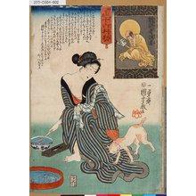 歌川国芳: 「妙でんす十六利勘」 「九」「朝寝者損者」 - 東京都立図書館