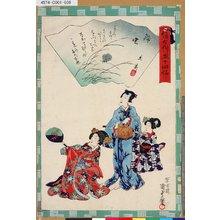 Utagawa Kunisada II: 「俤けんじ五十四帖」 「三十八 鈴虫」 - Tokyo Metro Library
