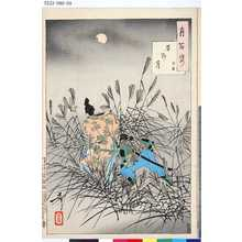 月岡芳年: 「月百姿」 「原野月 保昌」 - 東京都立図書館