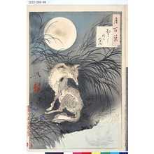 Tsukioka Yoshitoshi: 「月百姿」 「むさしのゝ月」 - Tokyo Metro Library