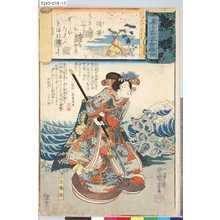 Utagawa Kuniyoshi: 「源氏雲浮世画合」 「須磨」「玉織姫」 - Tokyo Metro Library