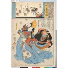 Utagawa Kuniyoshi: 「源氏雲浮世画合」 「胡蝶」「安部保名」 - Tokyo Metro Library