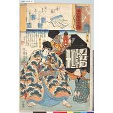 Utagawa Kuniyoshi: 「源氏雲浮世画合」 「手習」「松王丸」「玄蕃」 - Tokyo Metro Library