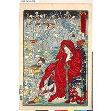 Kawanabe Kyosai: 「応需暁斎楽画」 「第九号」「地獄太夫かいこつの遊戯をゆめに見る図」 - Tokyo Metro Library
