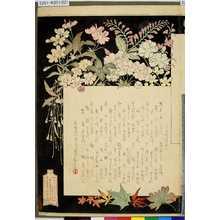 Mizuno Toshikata: 「三十六佳撰目次」 - Tokyo Metro Library