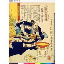 Ochiai Yoshiiku: 「太平記英勇伝」 「三十一」「遠藤喜右衛門春元」 - Tokyo Metro Library