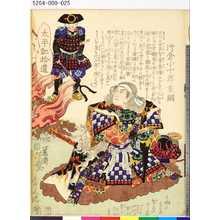 落合芳幾: 「太平記拾遺」 「四十二」「片倉小十郎重綱」 - 東京都立図書館