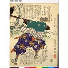 落合芳幾: 「太平記英勇伝」 「四十九」「明智左馬助光春」 - 東京都立図書館