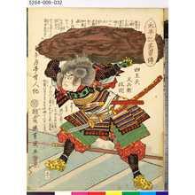 落合芳幾: 「太平記英勇伝」 「五十二」「四王天又兵衛政明」 - 東京都立図書館