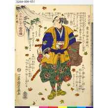 Ochiai Yoshiiku: 「太平記三十六番相撲」 「第八之番ヒ」「東堂伊右衛門」 - Tokyo Metro Library