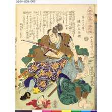 Ochiai Yoshiiku: 「太平記三十六番相撲」 「第廿七之番ヒ」「秋山五兵衛」 - Tokyo Metro Library