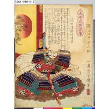 Ochiai Yoshiiku: 「太平記英勇伝」 「十一」「筒井陽舜坊順慶」 - Tokyo Metro Library