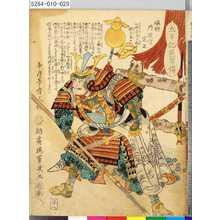Ochiai Yoshiiku: 「太平記英勇伝」 「二十八」「磯野丹波守定正」 - Tokyo Metro Library