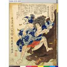 Ochiai Yoshiiku: 「太平記英勇伝」 「三十二」「堀尾茂助吉晴」 - Tokyo Metro Library